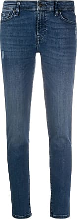 7 For All Mankind Calça jeans slim de cintura baixa - Azul