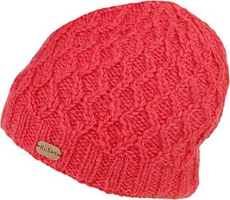KuSan Cable Knit Brooklyn Beanie Hat - Raspberry 1-Size