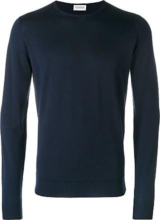 John Smedley Suéter decote careca de tricô - Azul