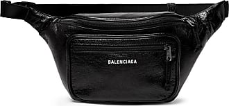 Balenciaga Arena Creased-leather Belt Bag - Black