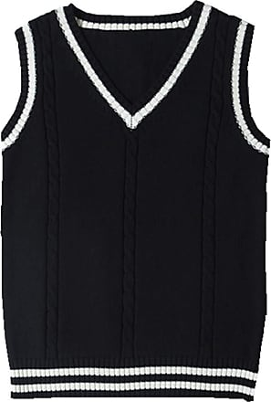 New Uniform V Neck Boys School Sleeveless Tank Top Jumper Sweat Shirt Size 3toXL