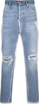 424 Calça jeans slim destroyed - Azul