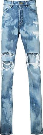 Hl Heddie Lovu distressed bleach jeans - Blue