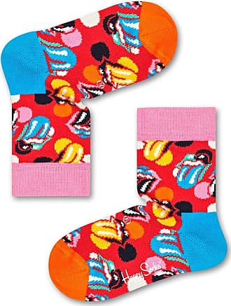 Happy Socks Colourful Collaboration Premium Cotton Socks for Men and Women, Rolling Stones: Stripe Me Up (41-46)