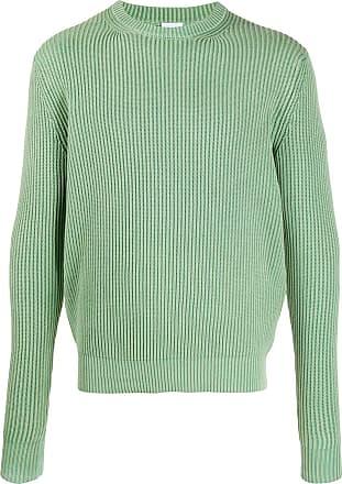 Aspesi Suéter decote careca de tricô canelado - Verde