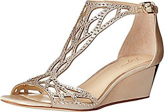 Imagine Vince Camuto Womens Jalen Wedge Sandal, Soft Gold, 5.5 Medium US