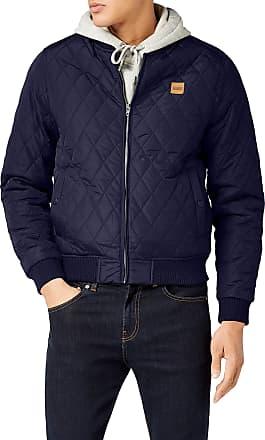 Urban Classics Mens Diamond Quilt Nylon Jacket, Blue (Navy 155), XXXL