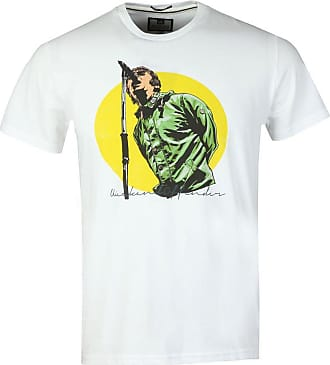 Weekend Offender Mens Liam Gallagher Printed Tee T-Shirt In White XXL