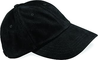 Beechfield Low profile heavy brushed cotton cap Black