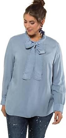 2e23ca55a08480 STUDIO UNTOLD Ulla Popken Ruffle Tie Long Sleeve Blouse - Plus size fashion