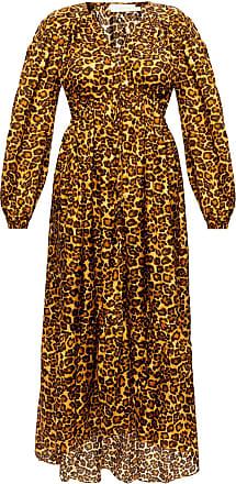 Zimmermann Animal Print Dress Womens Brown