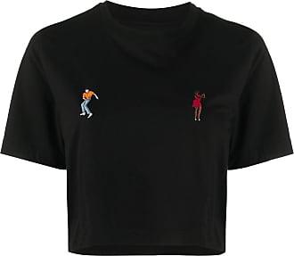 Kirin Camiseta decote careca com logo - Preto