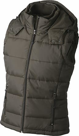 James & Nicholson JN1005 Ladies Puffer Quilted Water Resistant Gilet mud Size L