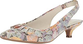 Anne Klein Womens ELANORE Pump, Ivory Light Green/Multi Leather, 6.5 M US