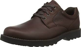 Rockport Mens Westbrook Oxford, Brown (Cocoa Lea 001), 8.5 (42.5 EU)