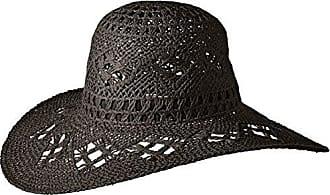 ále by Alessandra Womens Floresta Intricate Weave Toyo Boho Floppy Hat, Black, One Size