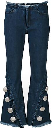 Marques Almeida raw edge flared jeans - Blue