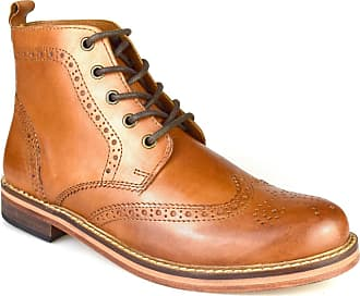 Redtape Clarendon All Leather Tan Brown Brogue Formal Boots
