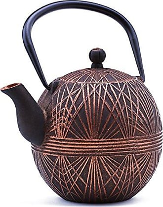 Old Dutch International Old Dutch 1086CB Black/Copper, 33 Oz. Otaru Cast Iron Teapot, Antique
