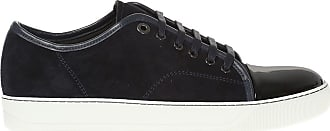 Lanvin Suede Sneakers Mens Navy Blue
