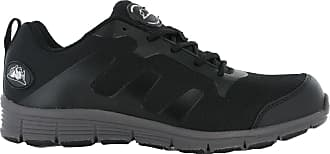 Groundwork GR95 Safety Steel Toe Lightweight Lace Trainers Work Shoes UK 7-11 (UK 10 / US 11 / EU 44, Black / Grey)