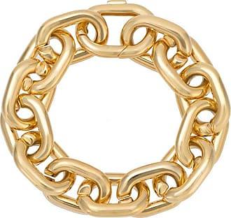 Jack Vartanian Pulseira Chain P prata com banho ouro 18k - Dourado