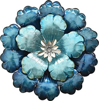 Three Hands 16.5 in. Metal Flower Wall Decor - 10693