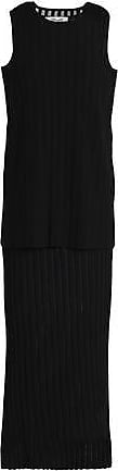 Diane Von Fürstenberg Diane Von Furstenberg Woman Layered Ribbed-knit Midi Dress Black Size S