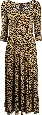 Norma Kamali Vestido midi com padronagem de leopardo - Neutro