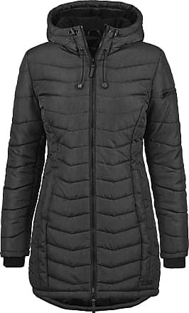Blend Nelly Womens Quilted Coat Parka Outdoor Jacket with Hood, Size:XXL, Colour:Black (20100)