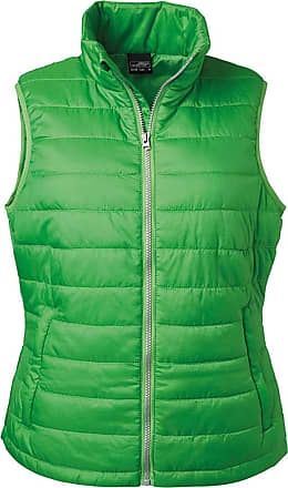 James & Nicholson Ladies Light, Padded Quilted Vest (S, Green)