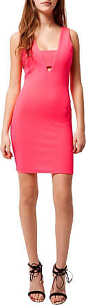 River Island Womens Coral Pink Cut Out Strappy Summer Holiday Bodycon Dress Size 6
