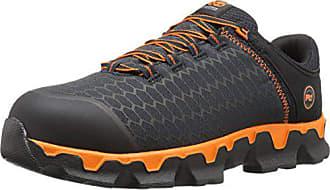Timberland Mens Powertrain Sport Alloy Toe EH Industrial & Construction Shoe, Black Synthetic/Orange, 10.5 W US
