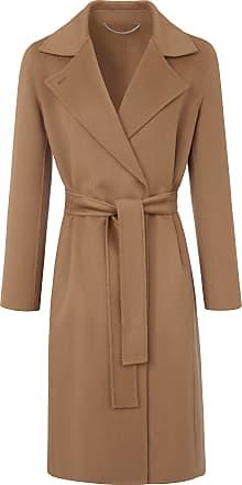 Marella Coat tie belt in 100% wool Marella brown