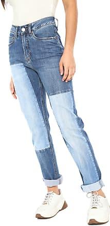 Calvin Klein Jeans Calça Jeans Calvin Klein Jeans Girlfriend Recortes Azul