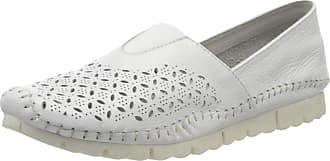 Jana Womens 8-8-24619-24 Loafers, White (White 100), 6.5 UK