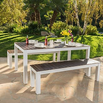 BEST SELLING HOME Outdoor Bulrog 3 Piece Wood Picnic Table Set with Benches - 299589