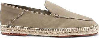 Loro Piana Seaside Walk Collapsible-heel Suede Espadrilles - Gray