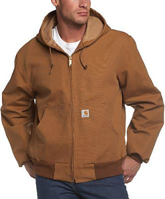 Carhartt Work in Progress Mens Big & Tall Thermal Lined Duck Active Jacket J131,Brown,XXX-Large Tall