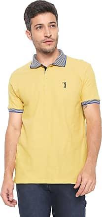 Aleatory Camisa Polo Aleatory Reta Logo Amarela