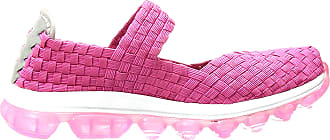 bernie mev. Womens Gummies Charm Flat (Hot Pink, 6)