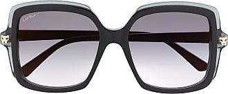 Cartier Óculos de sol quadrado Panthère de Cartier - Preto