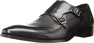 Stacy Adams Mens LaVine Wingtip Double Monk Strap Loafer, Black, 10.5 M US