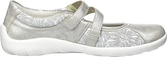 Remonte Womens R3510 Ankle Strap Ballet Flats, Grey (Silber/Lightgrey/Bianco 40), 10.5 UK