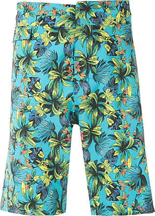 Amir Slama Shorts mit Print - Blau