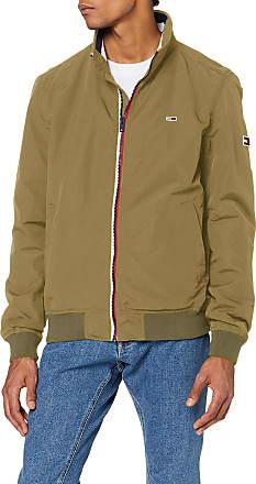 Tommy Jeans Mens TJM Essential Bomber Jacket, Green (Uniform Olive L8Q), Medium (Size:M)