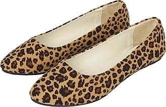 Vdual Ladies Everyday Casual Comfort Leopard Print Slip on Ballerinas Ballet Pumps Summer Flat Shoes for Womens UK 2.5-UK 8.5