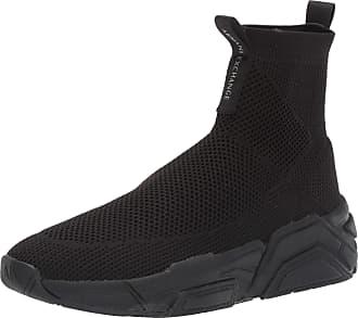 A X Armani Exchange Mens Sneaker High Top Hi Trainers, Black (Black 00002), 10.5 UK