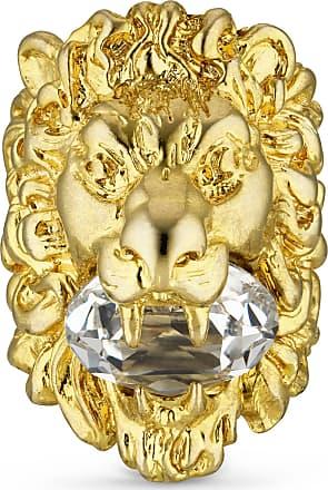 Gucci Anello testa di leone con cristallo