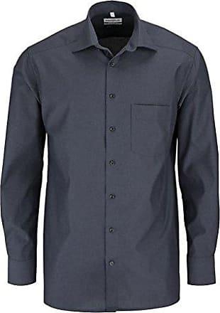 Gr CASAMODA Comfort Fit Hemd Langarm New Kent Kragen Muster dunkelblau M
